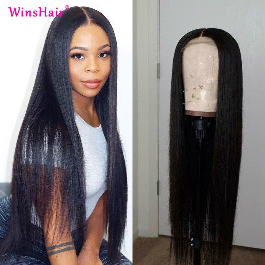 Winshair peruca dianteira do laço reto 30 polegada peruca dianteira do laço brasileiro 13x4 frente do laço perucas de cabelo humano seda 5x5 fechamento do laço peruca