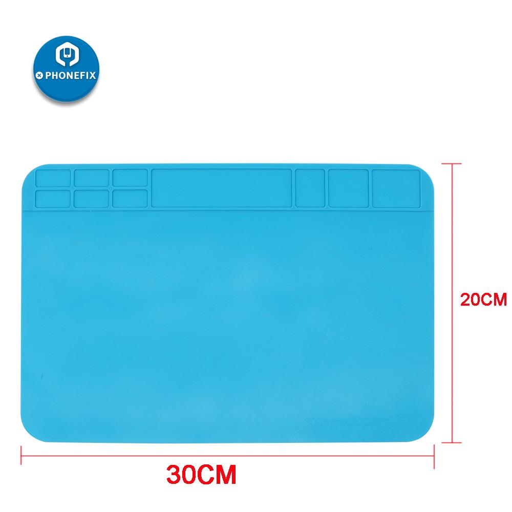 30CM*20CM Heat Insulation Silicone Soldering Mat Anti-static Mat Heat Resistant Work Pad For Phone PCB Soldering Pad Platform