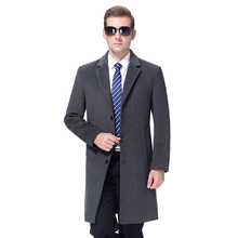 Cashmere Coat Wool-Blend Long-Jacket Autumn Korea-Style Winter Warm Men