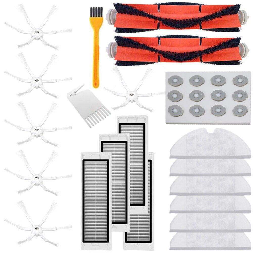 Kit de filtro de cepillo lateral para aspiradora Xiaomi Roborock S6 S5 Max S60 S65