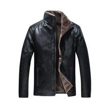Puimentiua Mens leather jacket motorcycle mens windbreaker PU warm baseball 2019