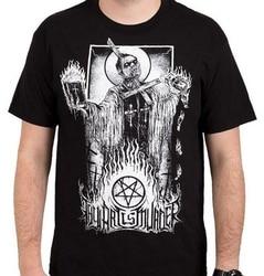 A arte é assassinato mal sacerdote 3d impresso moda masculina camisetas 100% algodão casual impressão de manga curta t camisa masculina