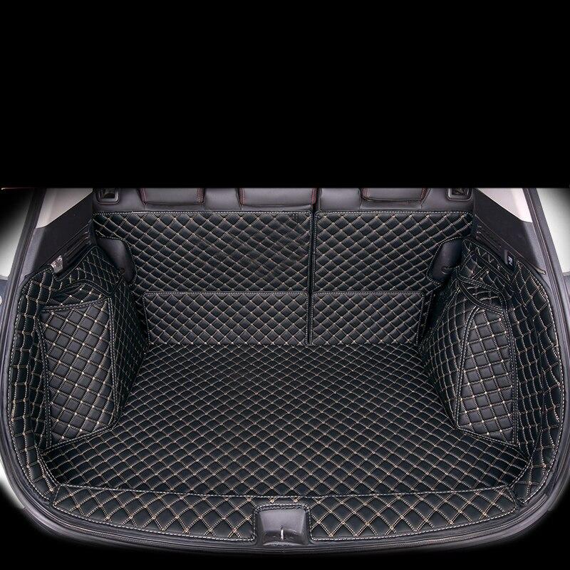 Lsrtw2017 en cuir de fibre de tapis de coffre de voiture pour honda hr-v hrv vezel 2015 2016 2017 2018 2019 2020 intérieur accessoires couverture de cargaison