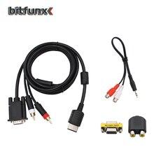Kabel vga dla SEGA Dreamcast o wysokiej rozdzielczości + 3.5mm do 2 męski RCA Adapter