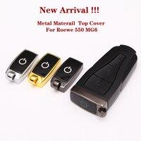 Carcasa de repuesto nuevo para llave remota y cubierta superior para MG6 Roewe 550 E50  carcasa para llave de coche con logotipo