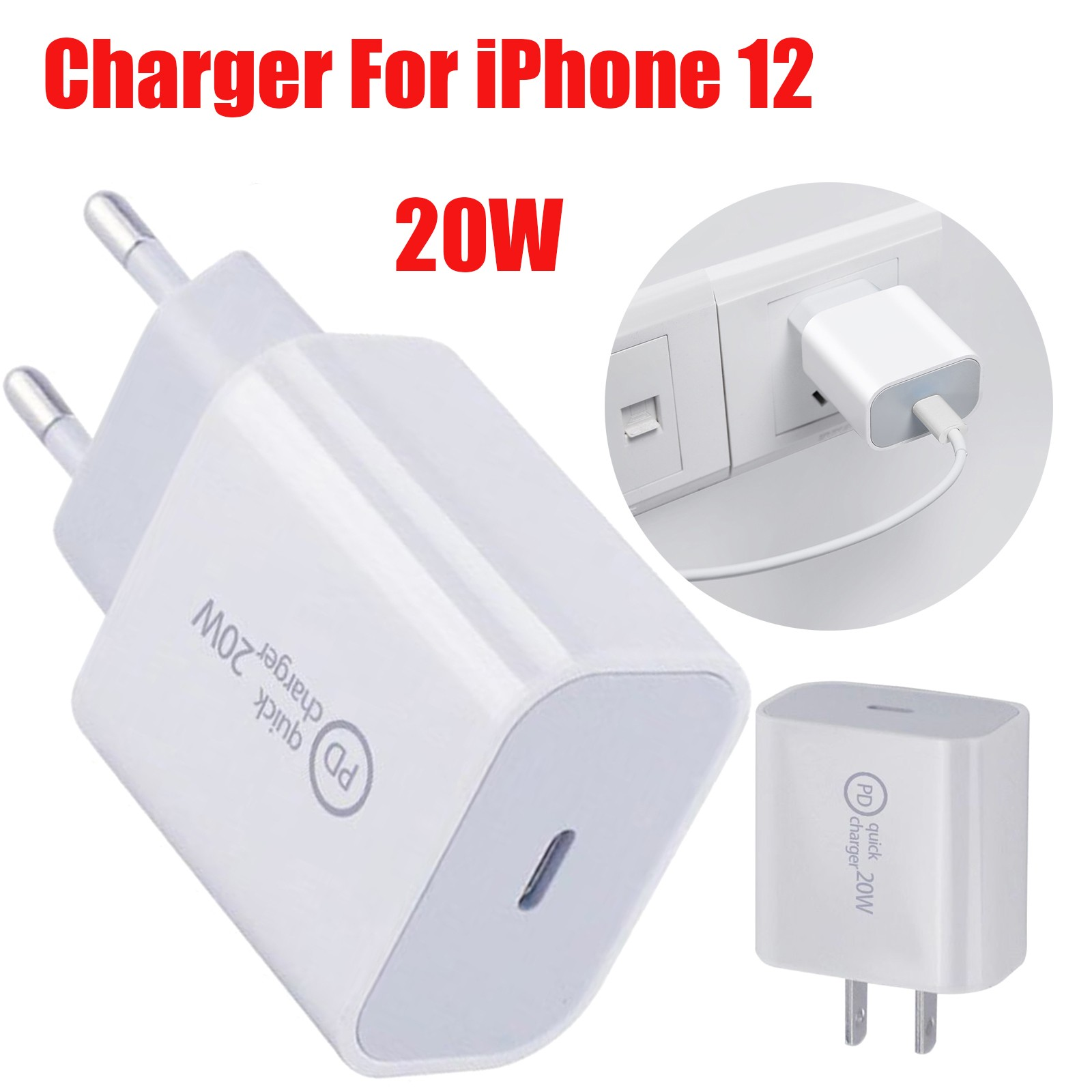 20 Вт USB зарядное устройство для iPhone, Samsung, Xiaomi, быстрая зарядка для телефона USB-C адаптер питания быстрый мобильный телефон зарядное устройств...