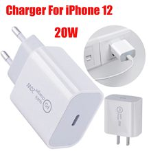 20w carregador usb para iphone samsung xiaomi carregador de telefone rápido USB-C adaptador de energia rápido carregador de telefone móvel para iphone 12 eua ue