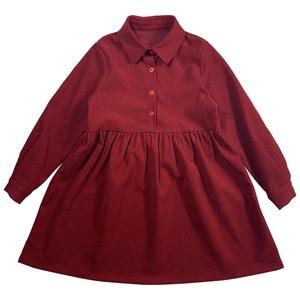 Image 3 - Robe dautomne pour filles, tenue de princesse tricotée, en coton, à col roulé, pour enfants, superbe collection 2020, #5673