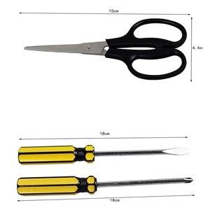 Image 3 - Ensemble doutils de réparation à domicile ensemble de boîte à outils en métal outil à main trousse à outils domestique