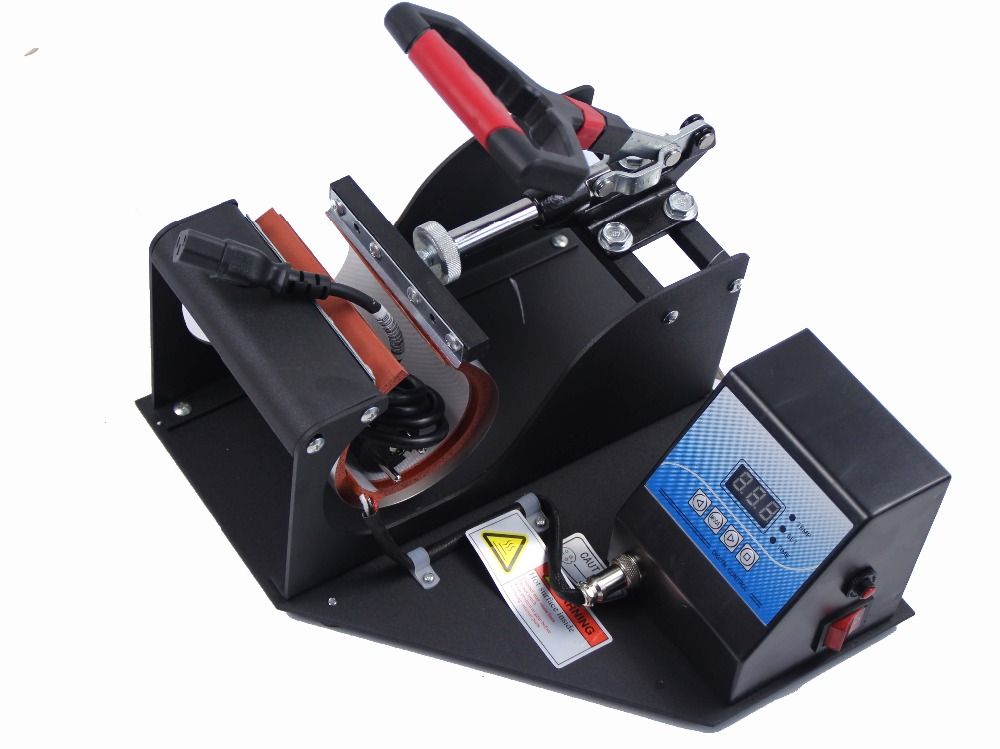 Free Shipping Sublimation Mug Press printing Cup heat transfer machine for Portable Digital Cup Mug Heat Press Machine