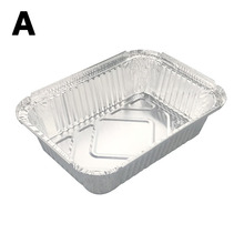 10Pcs Disposable BBQ Aluminum Foil Lunch Box Grease Drip Pans Grill Catch Tray Kitchen Outdoor Barbecue Supplies