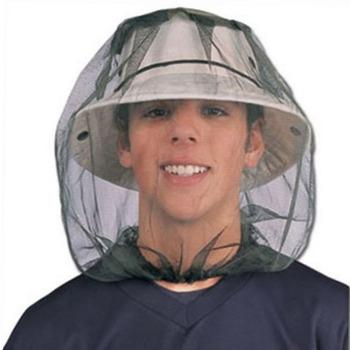 Midge Bug Camping Protector kapelusz twarz Mesh moskitiera owad gorąca podróż moskitiera tanie i dobre opinie Jednodrzwiowe Uniwersalny circular Domu Podróży Military CFM214 Dorosłych Wisiał dome moskitiera Owadobójczy traktowane