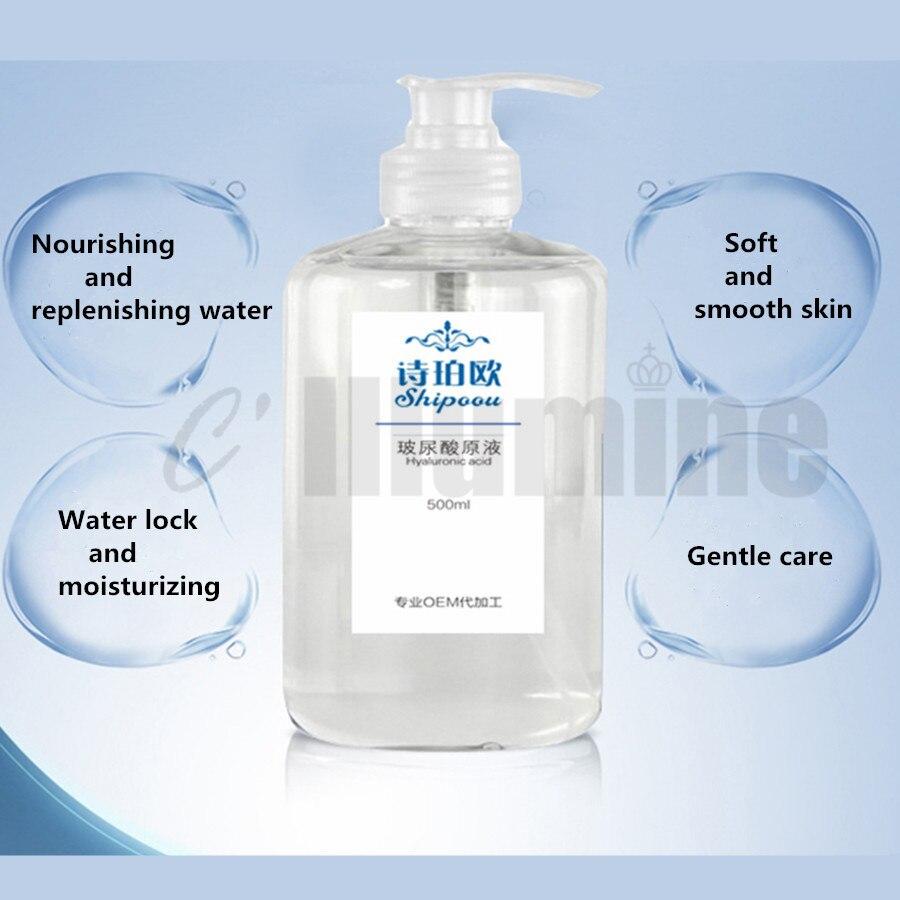 Acide hyaluronique Essence du visage Solution 500ml serrure eau hydrater éclaircir le teint