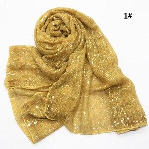 Image 5 - Новый мусульманский хиджаб 90*180 см, шарф для женщин, исламский мягкий Блестящий головной платок, женский платок, простые шали и палантины, Женский палантин