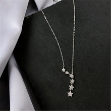 925 sterling silver Pendant necklace The stars pentagram web celebrity contracted character design Women's fashion jewelry foundation web design