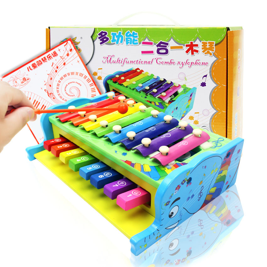 Wood Children-in-Multi-functional Toy Piano Baby 8 Sound Early Childhood Educational Music Toy Agent