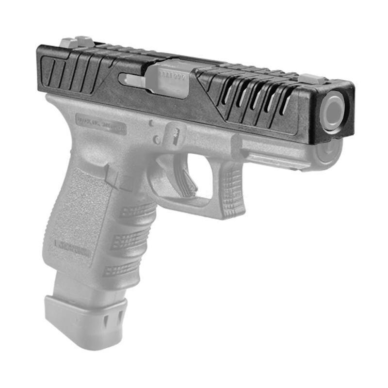 Spor ve Eğlence'ten Avcılık Silah Aksesuarları'de Yeni varış tabanca CaseTactical silah aksesuarları savunma taktik cilt için slayt kapak Glock 17/22/31/37 BK/DE/OD title=