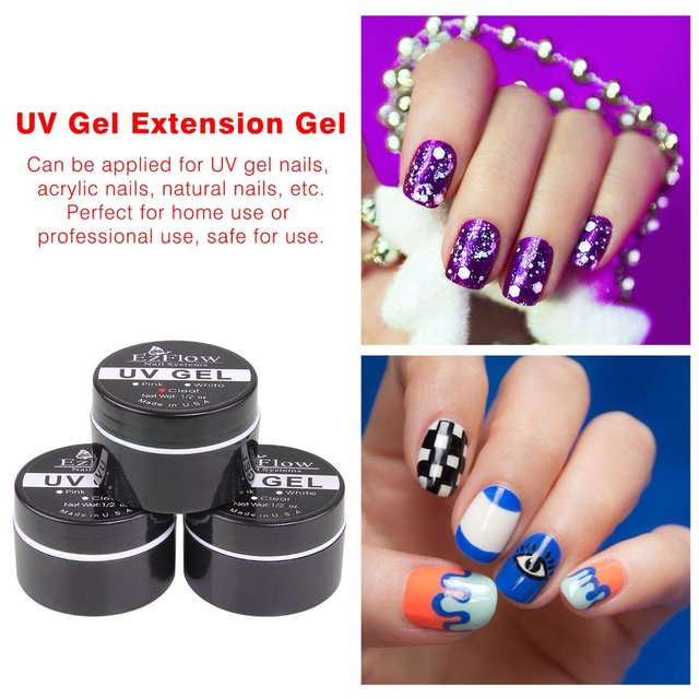 1Pcs Pink / White / Clear UV Gel crystal gel