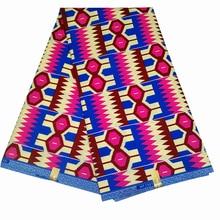 6 Ярды Африканский Реальный Воск Лотоса Печатает Ткань 100% Хлопок Нигерии Платье Ткани Для Женщин Свадебное Текстиля Z601