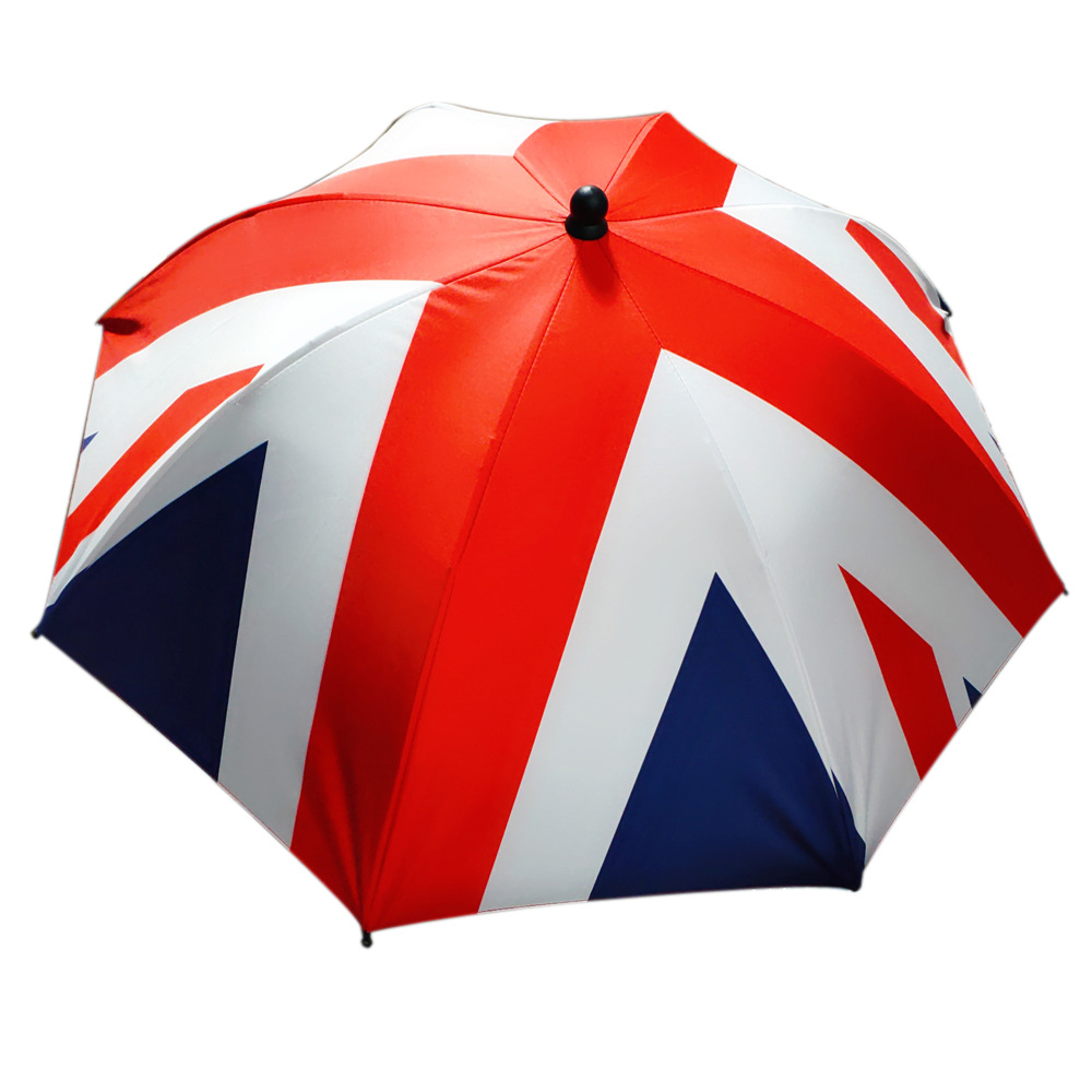 Baby Parasol New Style Extra-large Slip Baby Car Baby Stroller Parasol The United Kingdom National Flag Vinyl Umbrella Infant Um