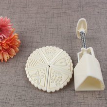 Baking Mold DIY Cold Cover Moon Cake Mold New Style 50g White Fan-Shaped Triangular Motif I Hand Pressure Push(China)