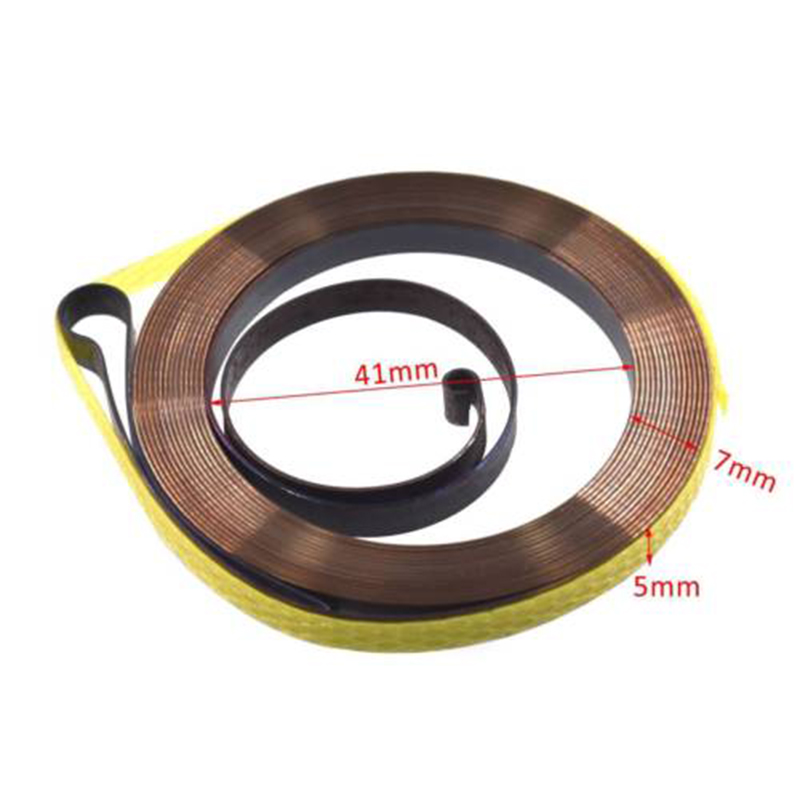 Recoil Pull Starter Spring For 45cc 52cc 4500 5200 Chinese Chainsaw Tarus Silverline Replace 2020 New Recoil Starter Spring