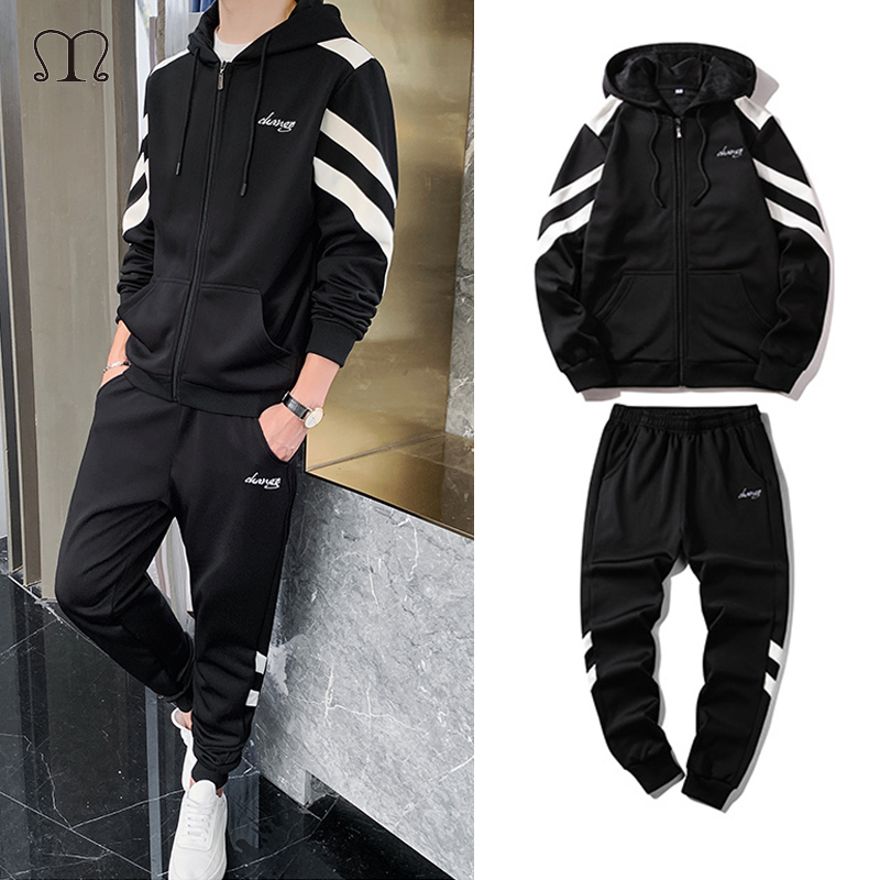 Brand Clothing Men's Fashion Tracksuit Casual Sportsuit Men Hip Hop Hoodies Sweatshirts Sportswear Plus Size Male Joggers Set