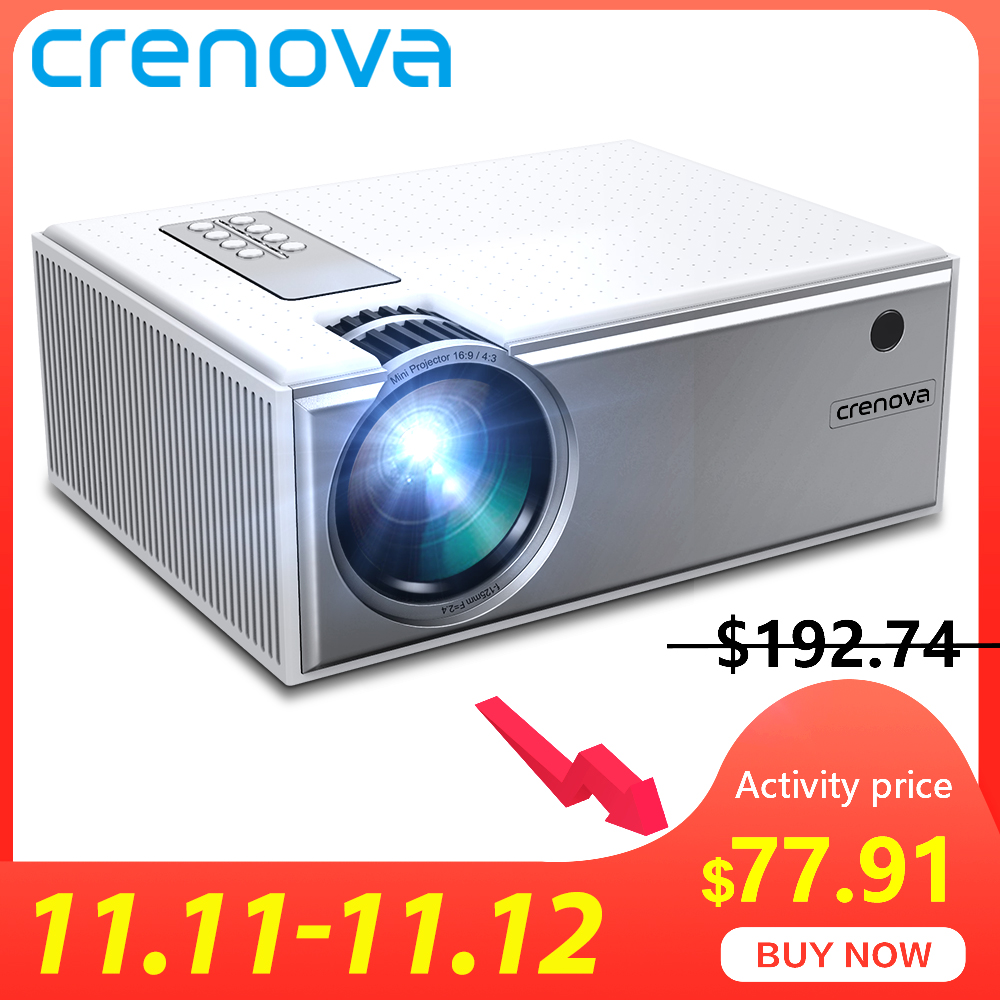 CRENOVA 2019 The Best Sale Android Video Projector C8 1280*720P Native Resolution With WIFI Bluetooth Home Cinema Movie Beamer-in LCD Projectors from Consumer Electronics