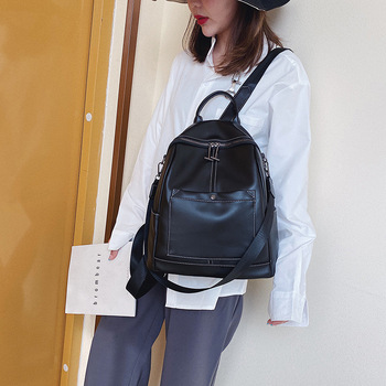 women backpacks school bag teenager girl  soft leather leisure fashion travel large capacity schoolbag