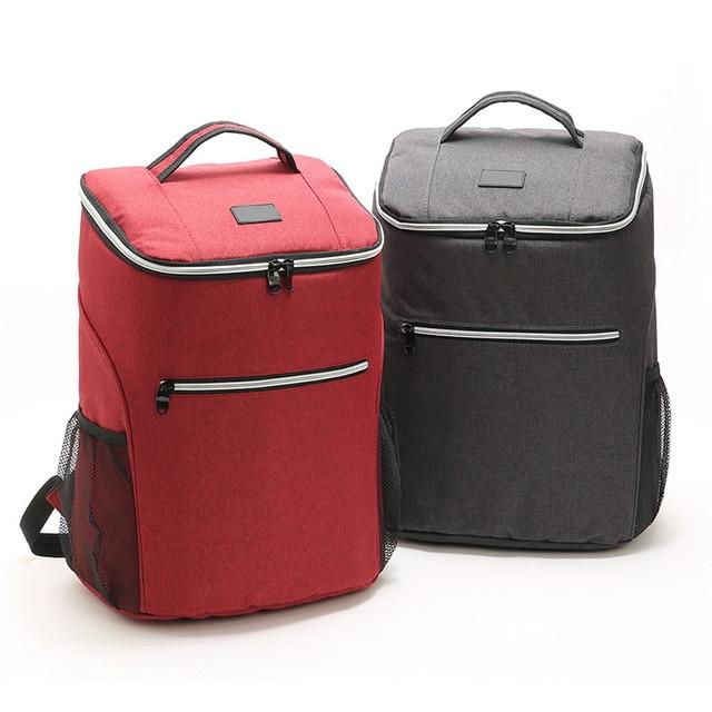 Mochila de enfriamiento aislante de 20L, bolsa térmica para el refrigerador Bento, bolsa para Picnic al aire libre, mochila para el almuerzo, para viaje de Camping