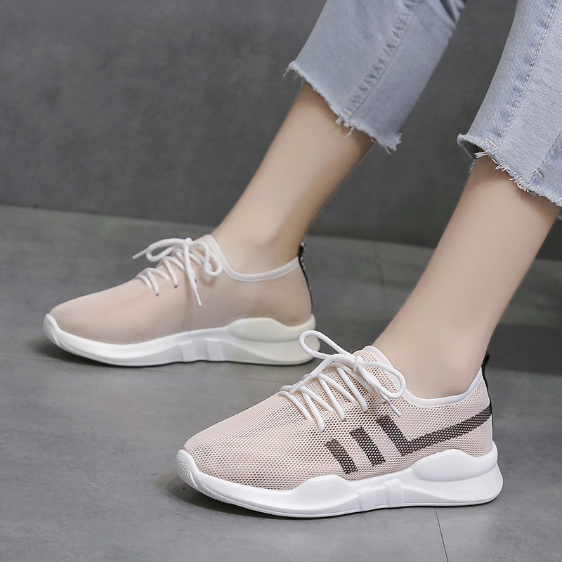 Size 35-38 Nice New Summer Sweet Shoes Woman Flat Heels Women Air Mesh Leisure Sneakers Fashion Girls Breathable Tenis Flats