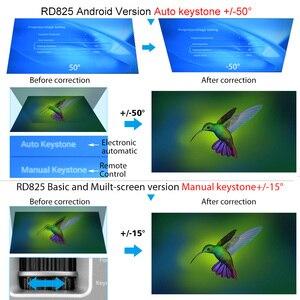 Image 5 - Rigal מיני LED מקרן RD825 Native1280 x 720P אנדרואיד 6 תמיכה HD1080P נייד 3D טלוויזיה קולנוע ביתי WIFI Bluetooth projetor