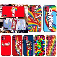 NBDRUICAI Candy Brand Skittles DIY Painted Bling Phone Case for iPhone 11 pro XS MAX 8 7 6 6S Plus X 5S SE XR case nbdruicai japanese fashion brand diy painted bling phone case for iphone 11 pro xs max 8 7 6 6s plus x 5s se 2020 xr case
