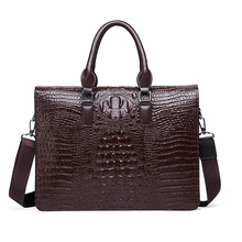 2019 New Style Crocodile Pattern Men's Briefcase Fashion Briefcase Wear-Resistant Casual Ha