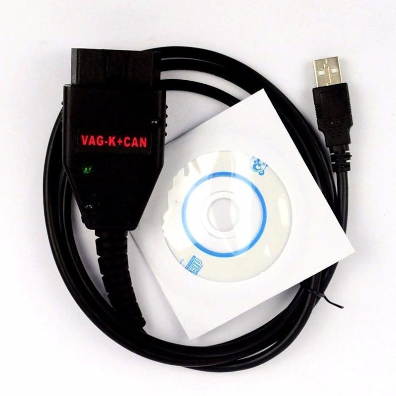 Car Accessories VAG-K+CAN Commander 1.4 Obd2 Scanner OBDII Auto Diagnostic Scanner Tool COM Cable For VW Audi FR2