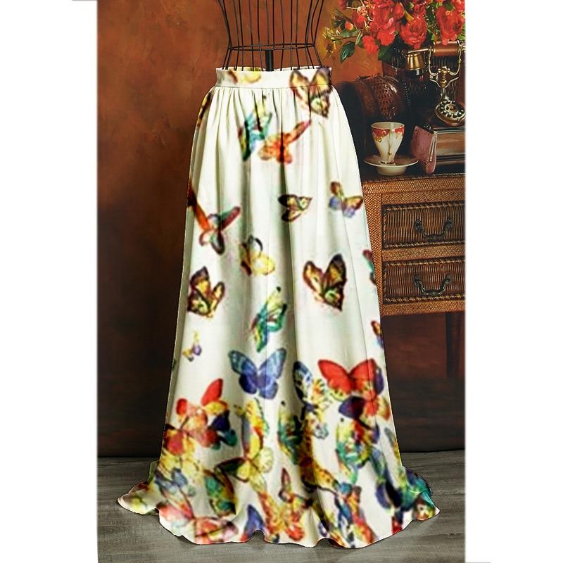 Novedad De Verano 2020 Falda Con Mariposa A La Moda Para Mujer De Estilo Europeo Y Americano Falda Larga Holgada Con Estampado De Swing Grande Ropa Para Mujer Faldas Aliexpress