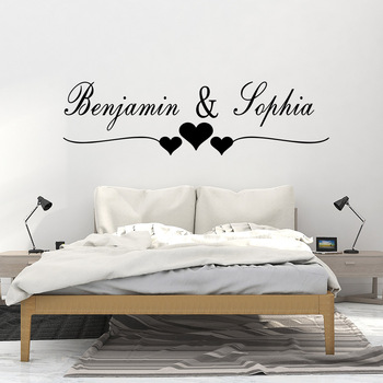 Custom Name Lovers Wall Sticker For Bedroom Decor Living Room Decoration Vinyl Stickers Wallpaper Wall Decals Decor Mural classic car wall sticker for boy bedroom decor kids room decoration vinyl roadster vinyl wall decor stickers mural poster