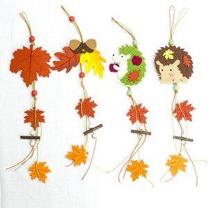 Рождественский кулон с изображением Ёжика, кленового листа, дерева, рождественской елки, рождественские украшения, вечерние украшения для ...