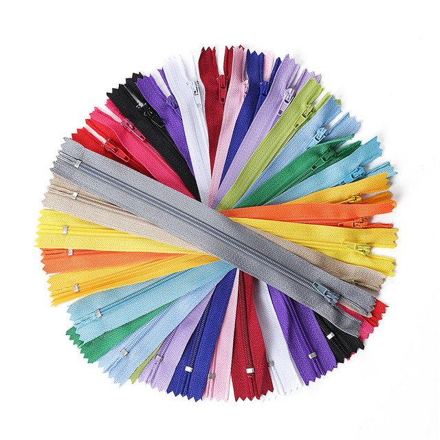 10pcs 3 Inch-24 inch (7.5cm-60cm) Nylon Coil Zippers for Tailor Sewing Crafts Nylon Zippers Bulk 20 Colors