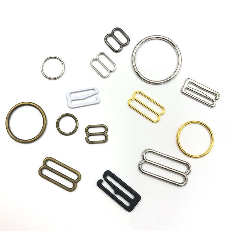 Black Detachable Bra Strap Clips 20 Sets=20 Slides+40 Hooks 11 mm BraAccessories