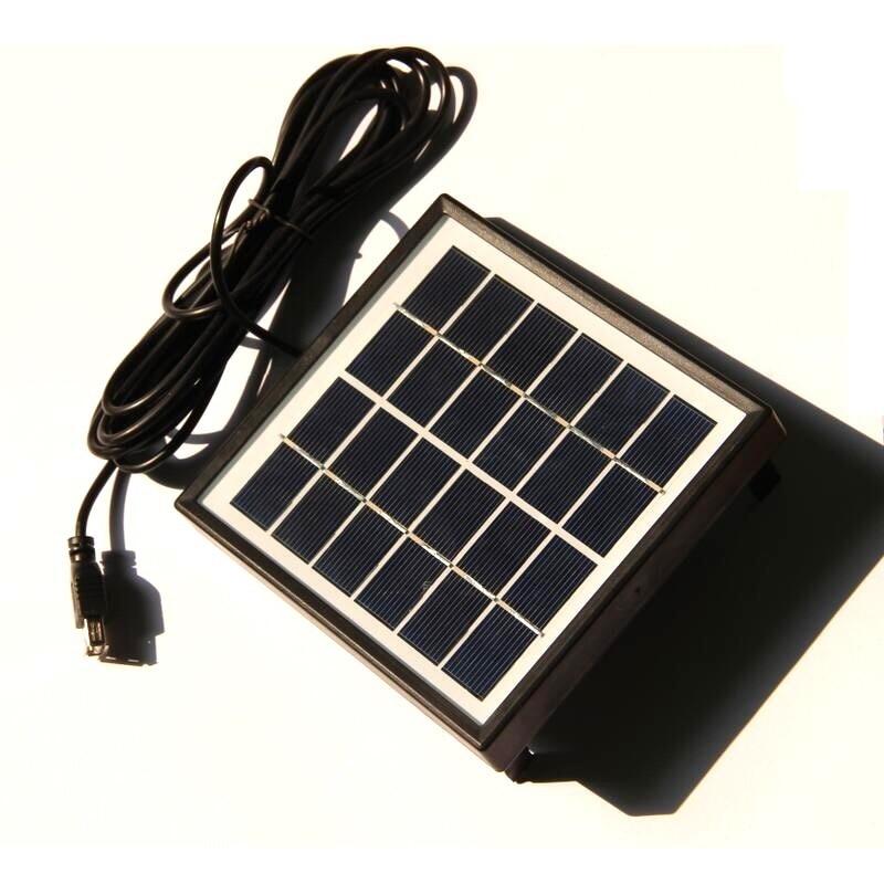 6 v 5 w usb painel solar polysilicon com frame 3 m cabo diy celula solar