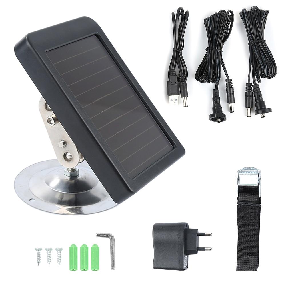 HC300M Solar Panel Battery External Power Charger For Suntek Hunting Photo Traps Camera HC500M HC700G HC550M HC700G HC350M #SD