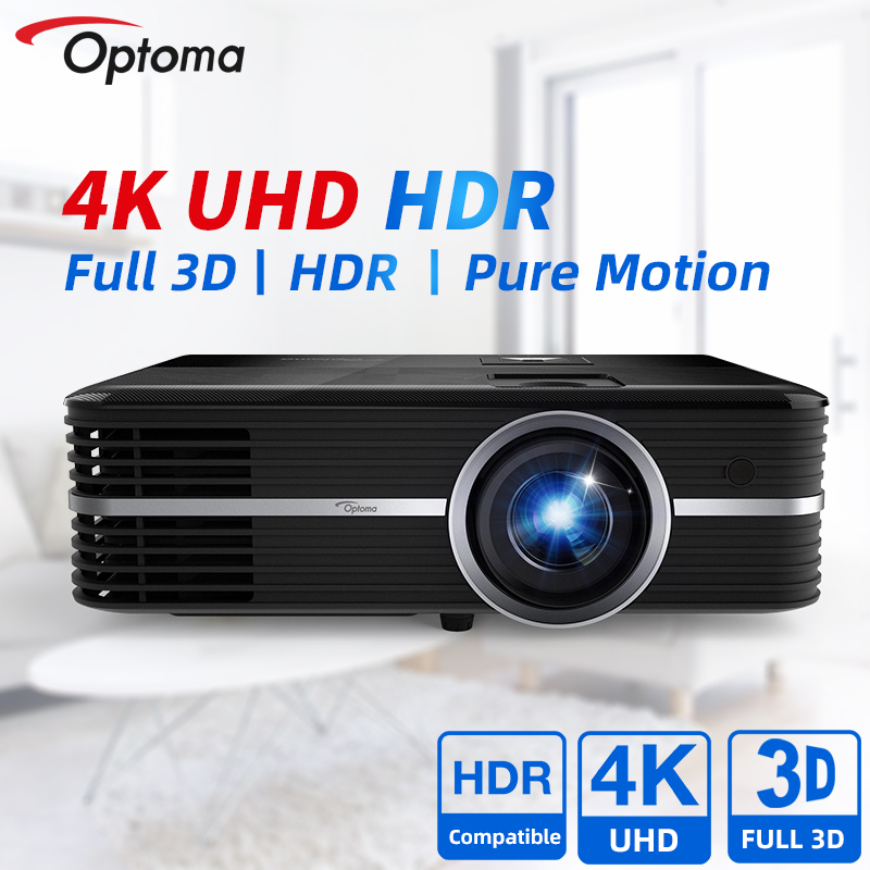 Optoma настоящий 4K проектор UHD588 Blu-Ray 3D HDR дома Театр Кино смартфон UHD видео видеопроектор HDMI ТВ Экран