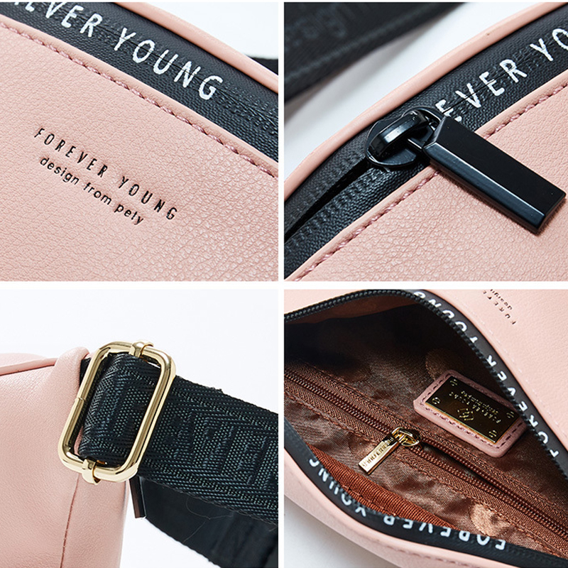 YIZHONG New Luxury Brand Fanny Pack Women Large Capacity Waist Pack Fashion Waist Bag Leather Belt Bag Multi function Chest Bag in Waist Packs from Luggage Bags