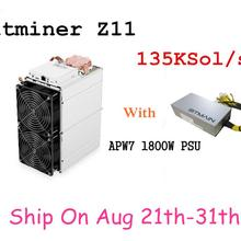 PSU Miner BITMAIN Innosilicon A9 S15 S9 Equihash with 1800W Better Than Z9 Sol/S 135k