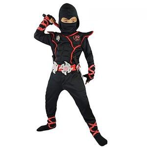 Image 1 - Halloween kostium dla dzieci Cosplay japoński Ninja kostium mięśni wojownik Ninja Kid Ninja kostium Weiwu czarny wojownik