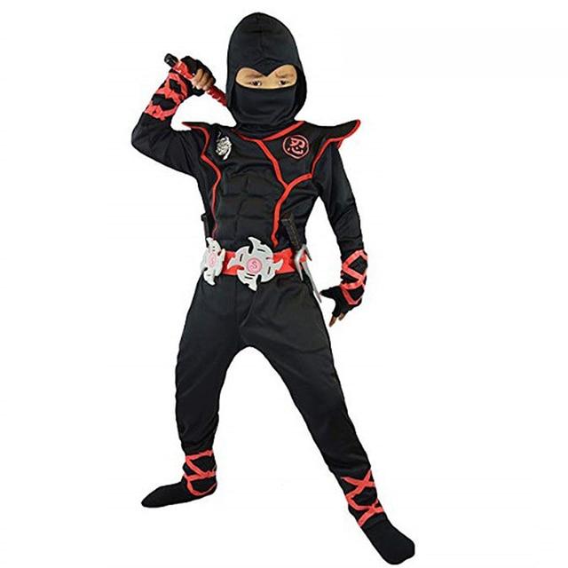 Halloween kostium dla dzieci Cosplay japoński Ninja kostium mięśni wojownik Ninja Kid Ninja kostium Weiwu czarny wojownik