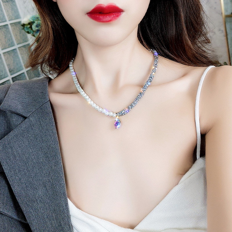 2019 New Fashion Arrival Crystal Classic Geometric Long Dangle Earrings For Woman Female Jewelry Korean Simple Earrings