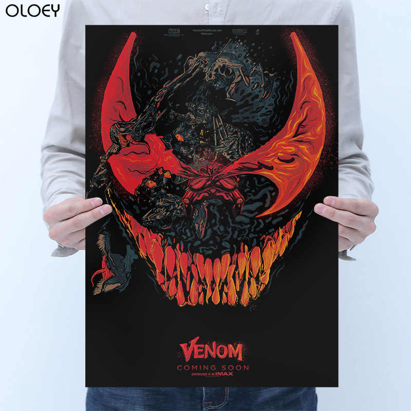 OLOEY Venom Movie Tom Hardy Marvel Comics Poster Hero Posters Wall Art Picture for Living Room Home Decoration Wall Sticker