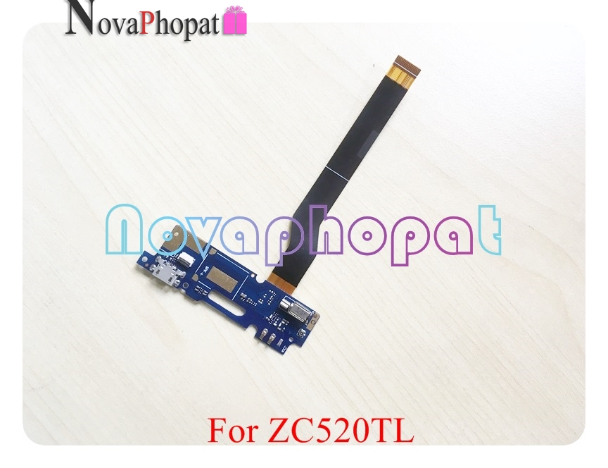 Novaphopat For ASUS Zenfone 3 Max ZC520TL USB Dock Charger Charging Port Connector Flex Cable Microphone Mic Vibrator Board